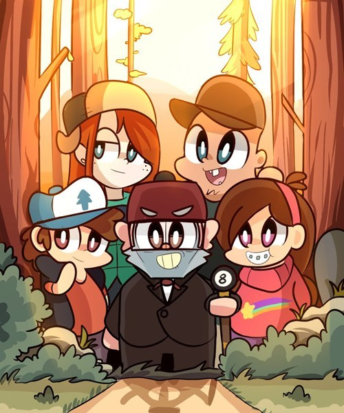 gravity falls cartoons Fan Art - 7889161472
