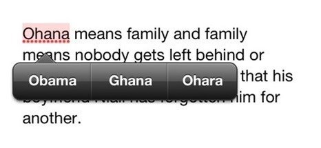 autocorrect,lilo and stitch,obama,ohana,text