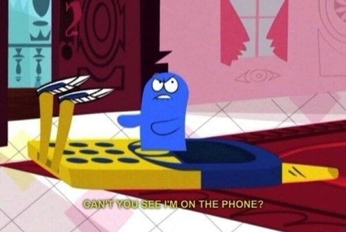 cell phone,puns,foster's home for imaginary friends