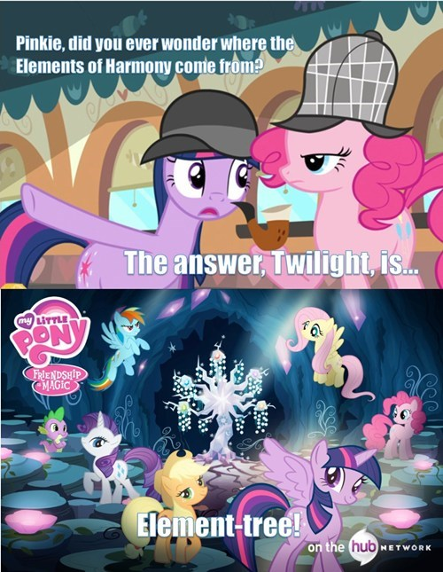 pun,twilight sparkle,pinkie the detective