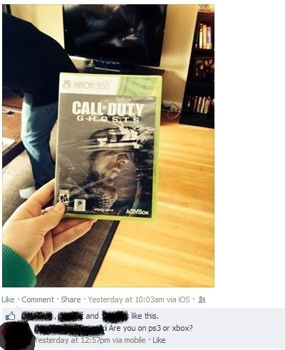call of duty captain obvious ghosts ps3 xbox 360 Cod Ghosts - 7889314048