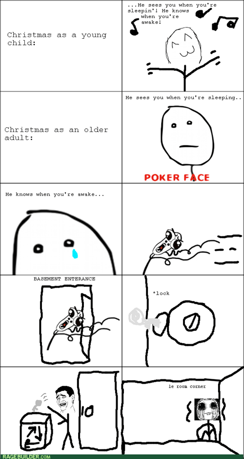 poker face,santa claus
