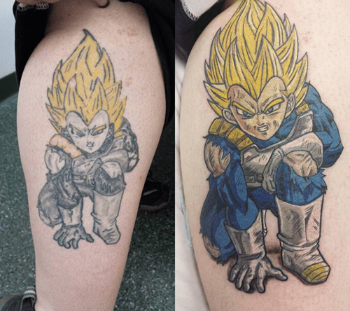 Dragon Ball Z,funny,tattoos,g rated,Ugliest Tattoos
