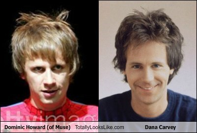 Dominic Howard (of Muse) Totally Looks Like Dana Carvey