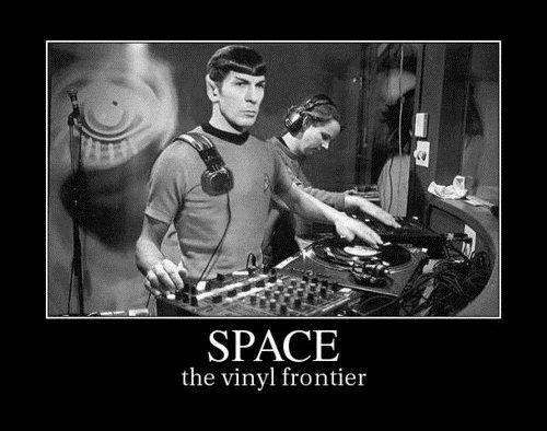 funny Star Trek vinyl Spock wtf - 7890159104