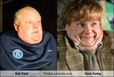 chris farley,funny,totally looks like,rob ford