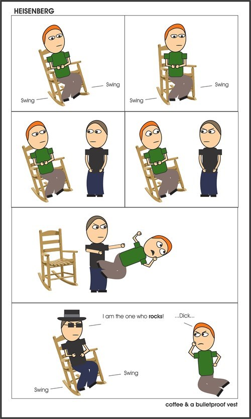 breaking bad puns rocking chair funny web comics