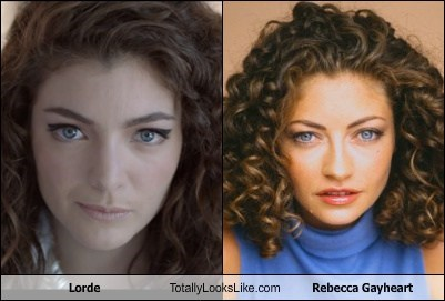 funny,totally looks like,lorde,rebecca gayheart