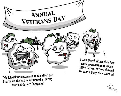 funny immune system veterans day white blood cells - 7890481408