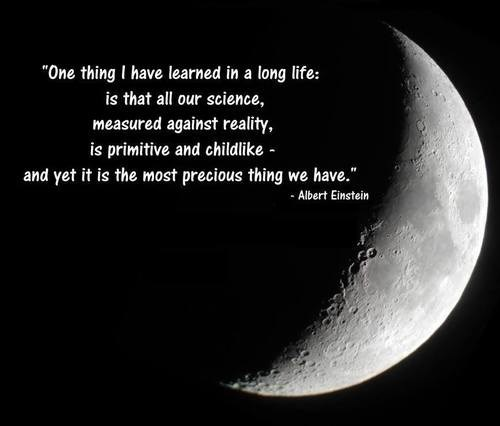 albert einstein quote moon science - 7890570240