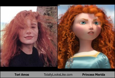 funny totally looks like Tori Amos Princess Merida
