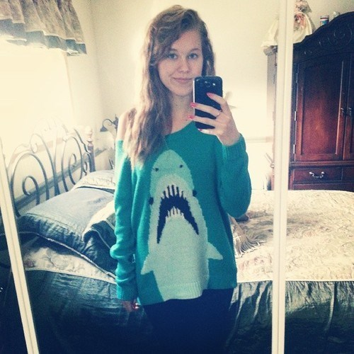 fashion animals shark sweater g rated poorly dressed - 7890586368
