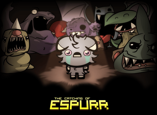 crossover,Pokémon,the binding of isaac,espurr
