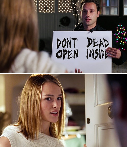 Andrew Lincoln,Keira Knightley,love actually,The Walking Dead,don't open dead inside