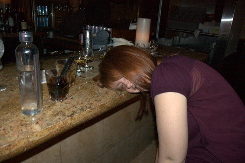 bar drunk funny passed out tired - 7890645760