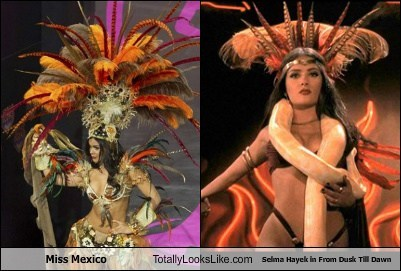 miss mexico,totally looks like,from dusk till dawn,selma hayek