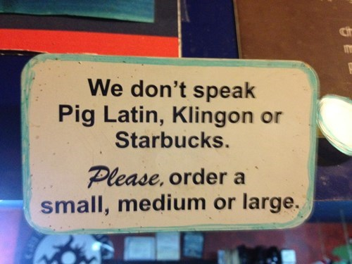 coffee klingon Starbucks pig latin g rated monday thru friday - 7890697984