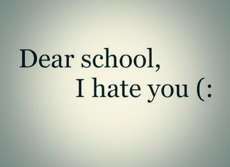 hate funny school note - 7890708480