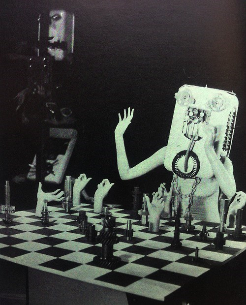wtf creepy chess vintage
