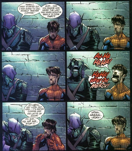 mister coffee Spider-Man off the page whats in a name - 7890763264