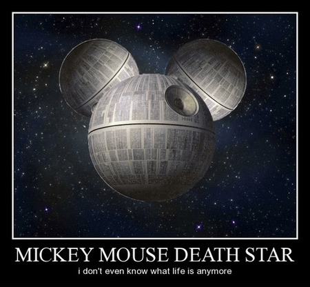 disney star wars mickey mouse Death Star funny - 7890797312