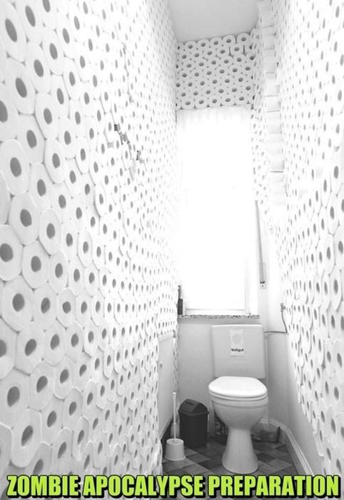 zombie,toilet paper