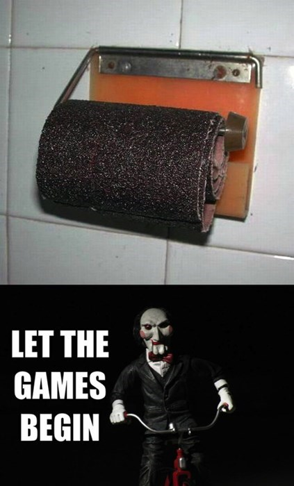 saw,toilet paper