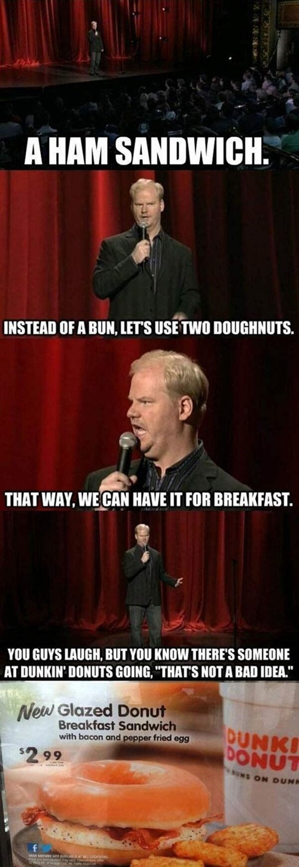 comedians dunkin donuts jim gaffigan - 7890825984