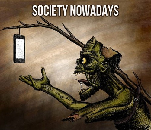 phones,zombie,society