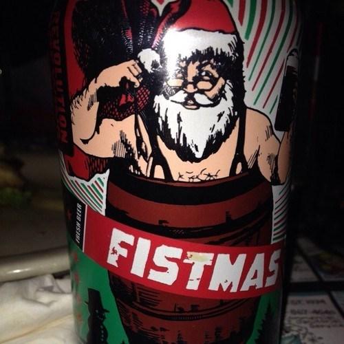 beer christmas funny fist santa - 7890895360