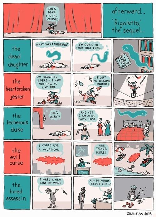 funny theater high brow plot twist web comics - 7890904576