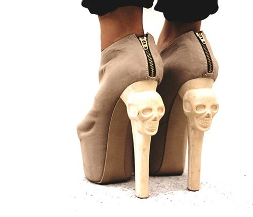 fashion shoes high heels skulls - 7890967040