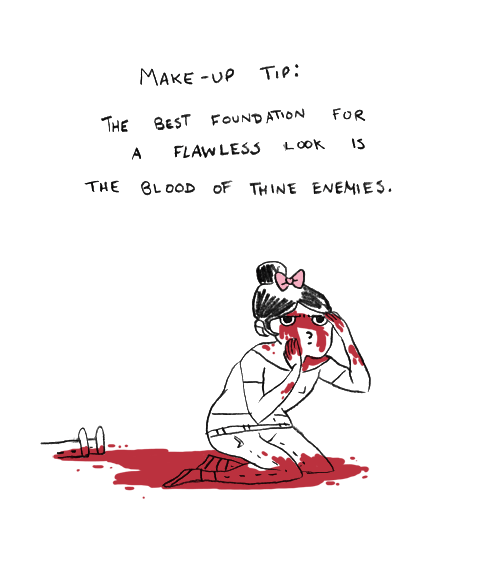 comic,makeup,poorly dressed