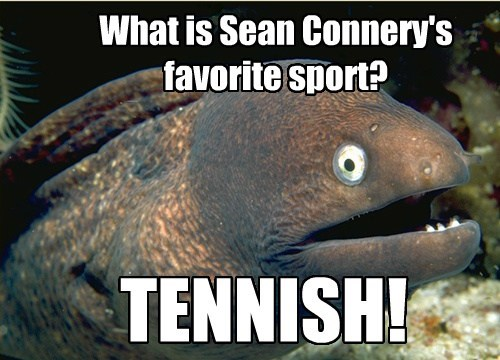 What is Sean Connery's favorite sport? TENNISH!