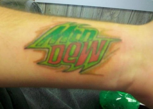 mountain dew,tattoos,funny,g rated,Ugliest Tattoos