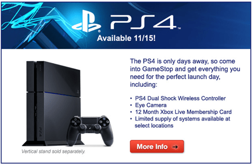 PlayStation 4,gamestop,FAIL,ads