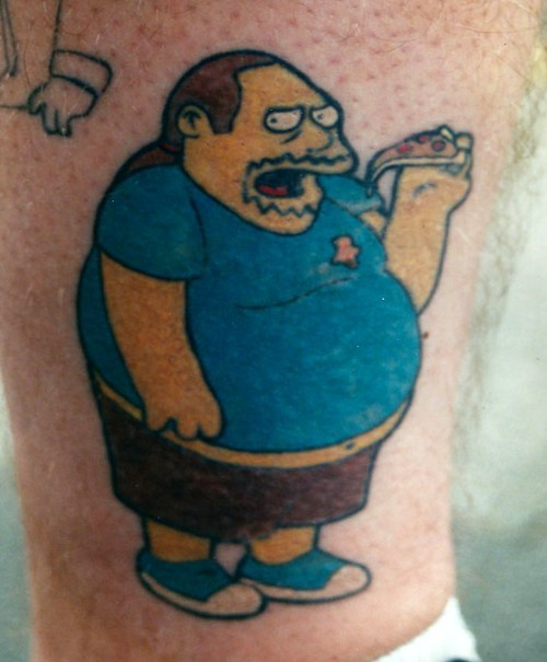 tattoos comic store guy simpsons funny win - 7891934976