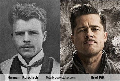 brad pitt,totally looks like,hermann rorshach