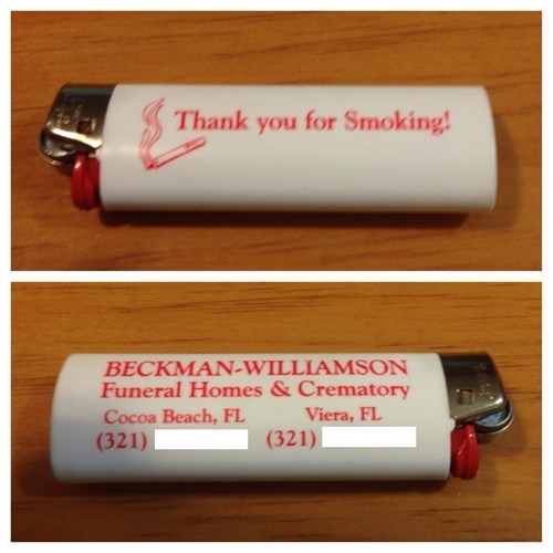funeral homes,lighters,smoking,thank you for smoking
