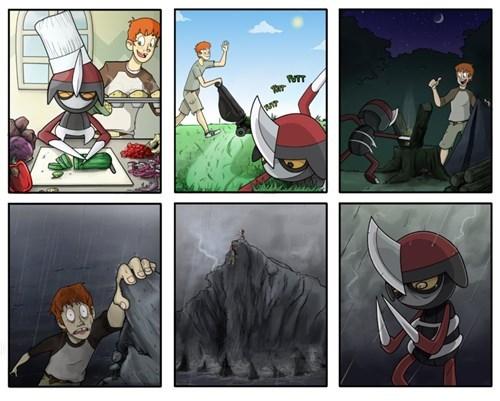 Pokémon pawniard web comics - 7892246784