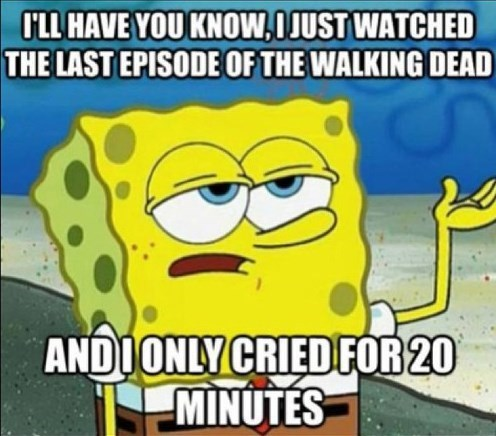 SpongeBob SquarePants right in the feels The Walking Dead - 7892273152
