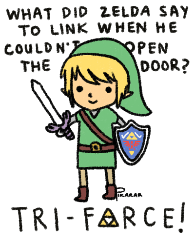 link jokes puns triforce zelda - 7892400128