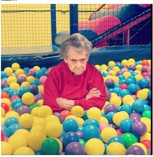 ball pit,granny,funny,wtf