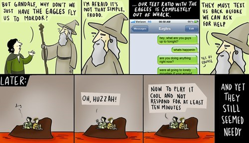 Lord of the Rings texts funny web comics - 7892591360