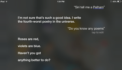 siri,AutocoWrecks,poems