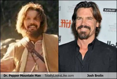 mountain man,dr pepper,totally looks like,Josh Brolin,beards