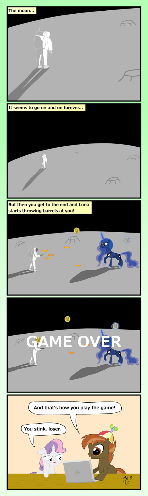 game,Fan Art,button,moon,Sweetie Belle,princess luna