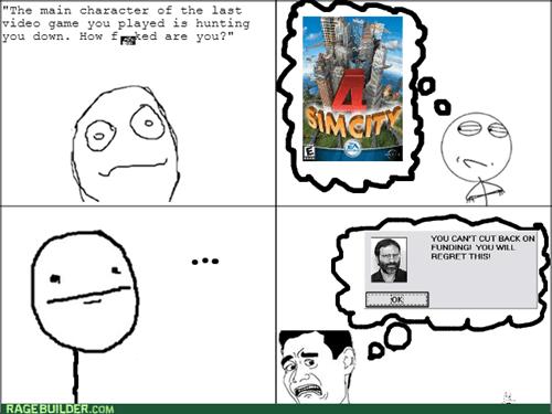 Memes video games poker face SimCity - 7894511360