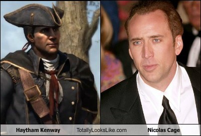 haytham kenway,totally looks like,nicolas cage,assassins creed