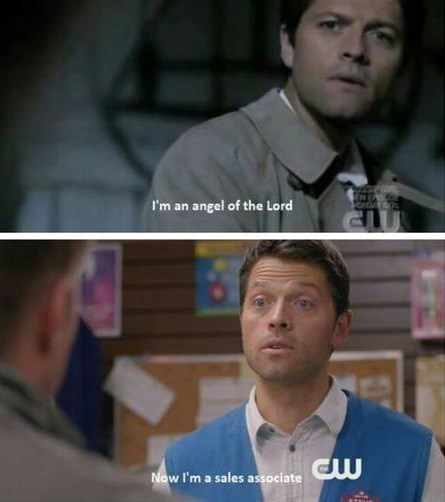 castiel,Supernatural,sales associate